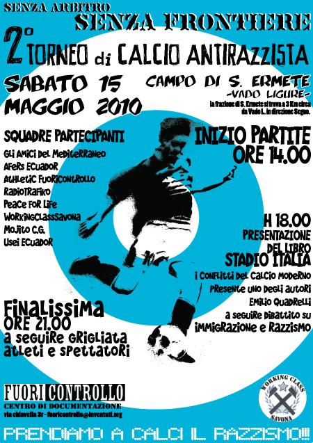 secondo  torneo  di   calcio  antirazzista 2 - fanzine