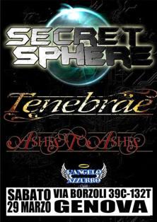SECRET SPHERE + TENEBRAE + ASHES TO ASHES - Genova, L'Angelo Azzurro - 29/12/2014 1 - fanzine