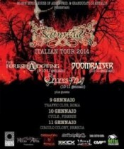 Saturnus, Doomraiser, The Foreshadowing, Shores Of Null, (echo) - Brescia, Colony 11 Gennaio 2014 7 - fanzine