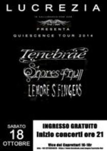 TENEBRAE, SHORES OF NULL, LENORE S.FINGERS – Genova, 18/10/2014 6 - fanzine