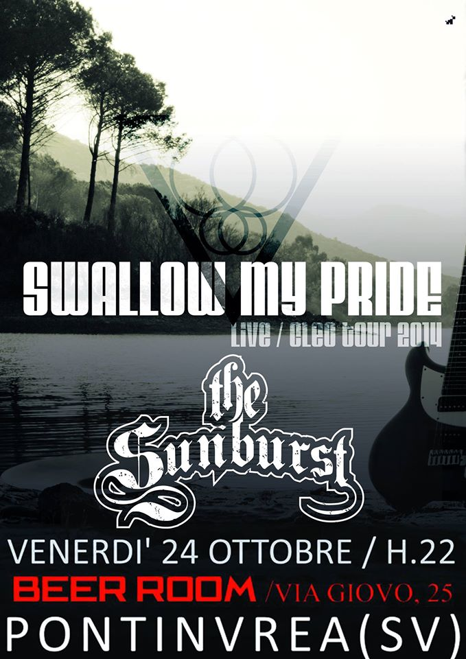 The Sunburst - Swallow My Pride - Pontinvrea  24/10/2014 1 - fanzine