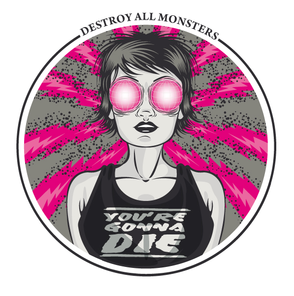 Cover : Destroy all monsters 5 - fanzine