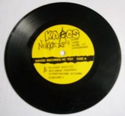 """Il 7"""" Nukke, pubblicato dalla Fight  Records di Tampere nel 1985."""