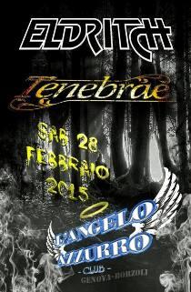 ELDRITCH - TENEBRAE - Genova, L'Angelo Azzurro 28/3/2015 1 - fanzine