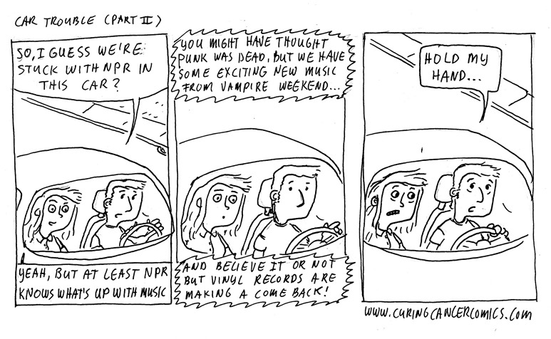 comics car trouble