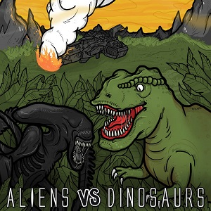 Hulduefni / I Am Esper / Paleozoic / Satanath - Aliens vs Dinosaurs 1 - fanzine