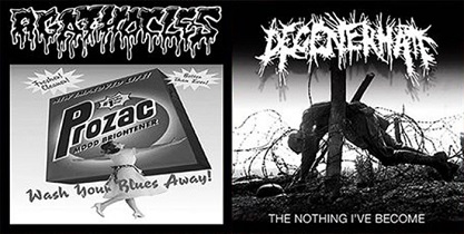Agathocles / Degenerhate - Wash Your Blues Away! / The Nothing I've Become 5 - fanzine