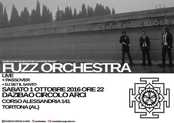 Fuzz Orchestra + Pass Over (Dazibao, Tortona, 01/10/16) 1 - fanzine